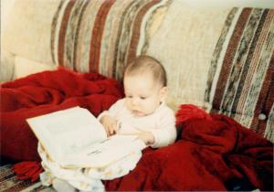 Baby Kerry loves to read